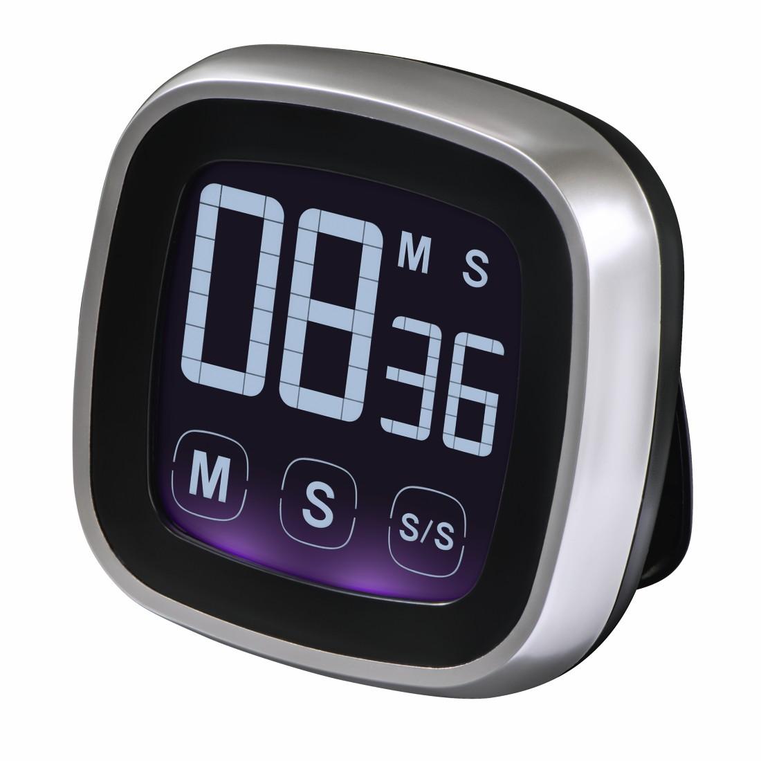 00095321 Xavax Touch Kitchen Timer Digital Silver Black Xavax Eu