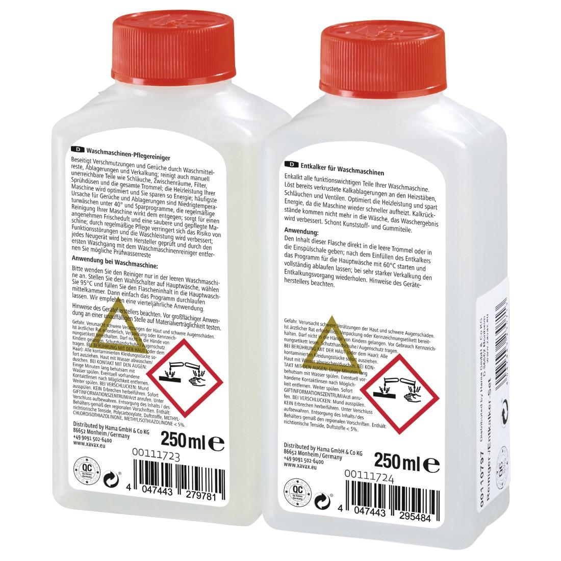 xavax eu 00110797 xavax kit de nettoyage pour machines 224 laver le linge d 233 tartrant nettoyant
