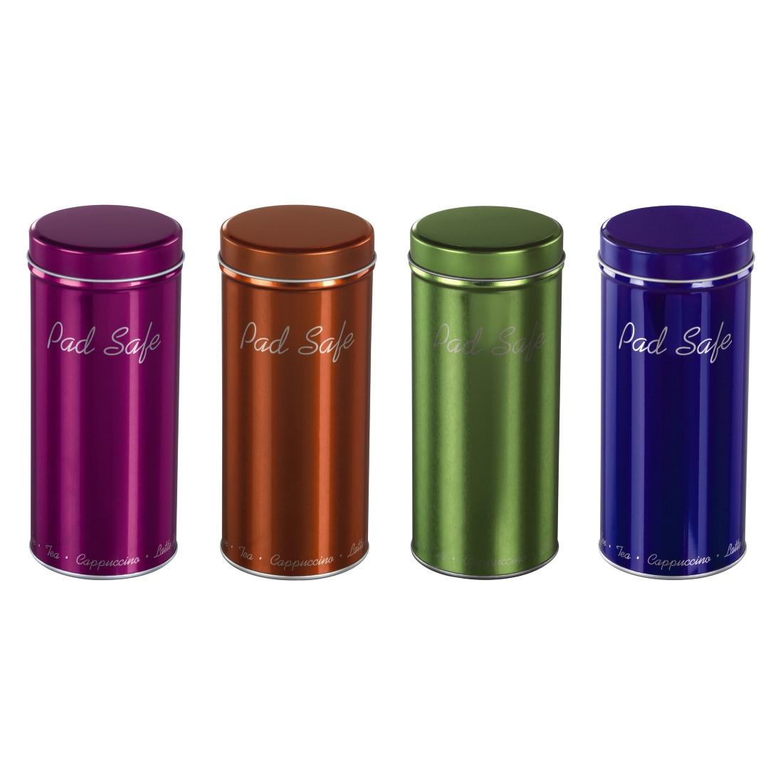 00111036 xavax bo te m tallique pour dosettes de caf ou th ros - Boite de rangement dosette senseo ...