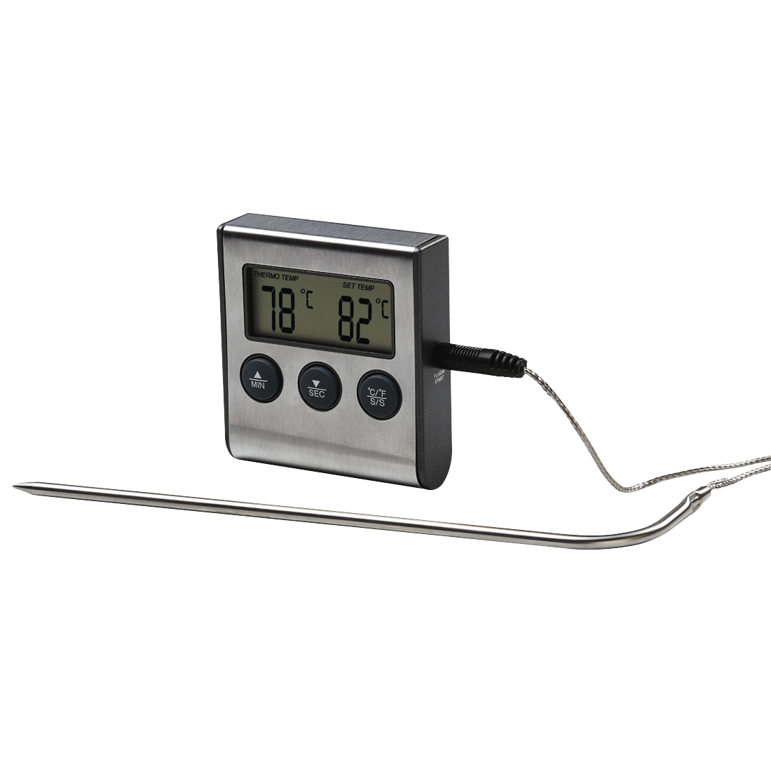 abx High-Res Image - Xavax, Digital Meat Thermometer with Timer, cable sensor