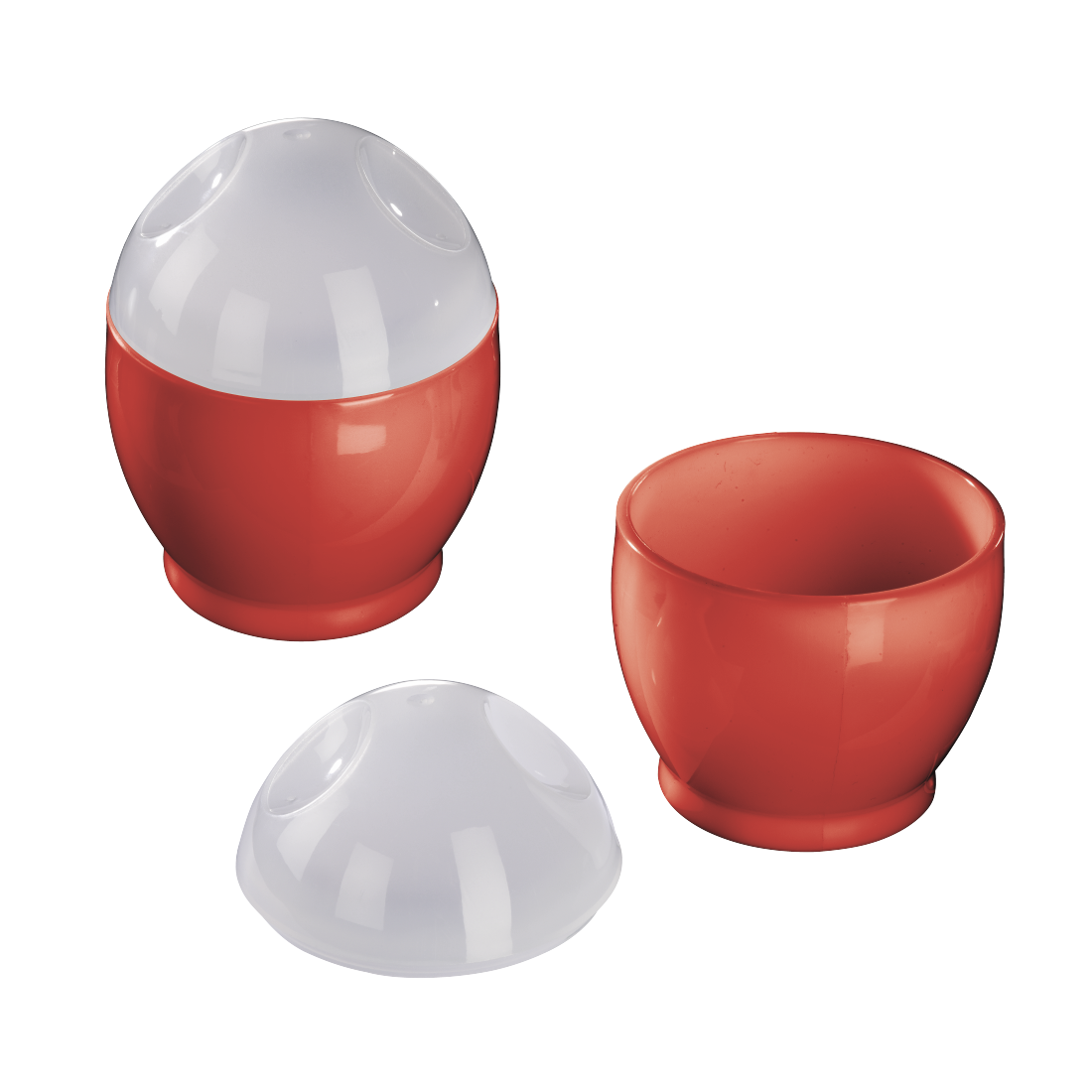 abx High-Res Image - Xavax, Set of 2 Microwave Egg Cookers, Polypropylene, 6 x 8 cm