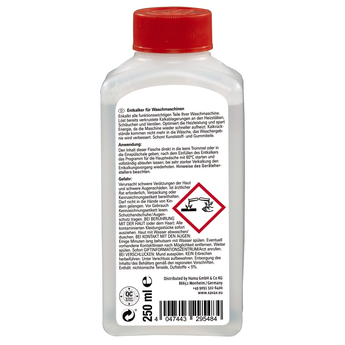 abx2 High-Res Image 2 - Xavax, Washing Maschine Discaler, 250 ml