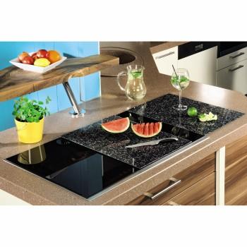 00111515 xavax planche d couper en verre lot de 2 design granit 52 cm x 38 5 cm. Black Bedroom Furniture Sets. Home Design Ideas