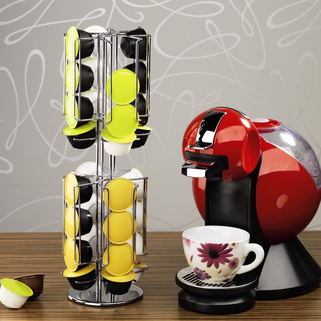 awx High-Res Appliance - Xavax, Rondello Coffee Capsule Stand for Dolce Gusto, 32 capsules
