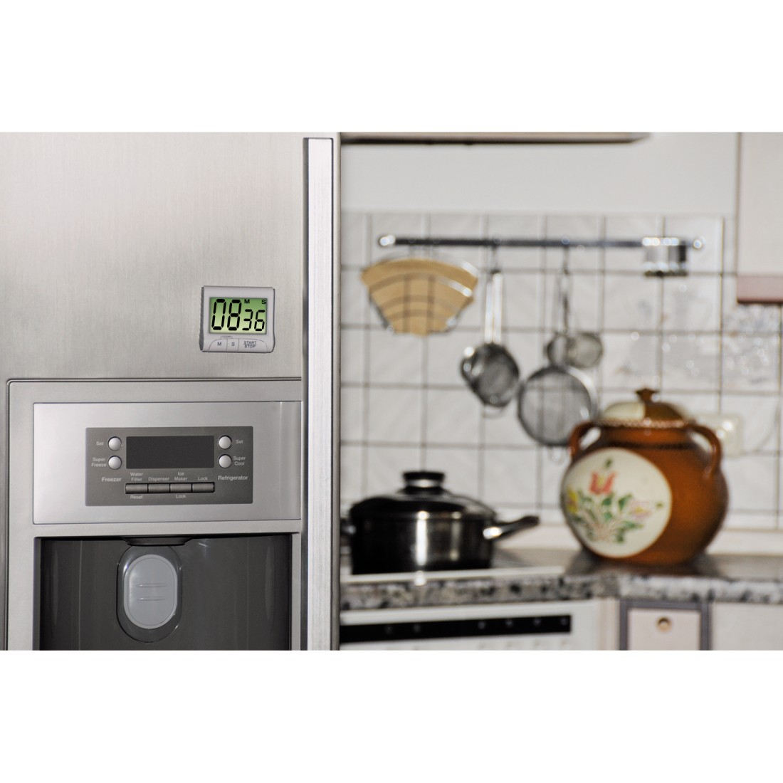 00111319 Xavax Countdown Kitchen Timer Digital White Xavax Eu