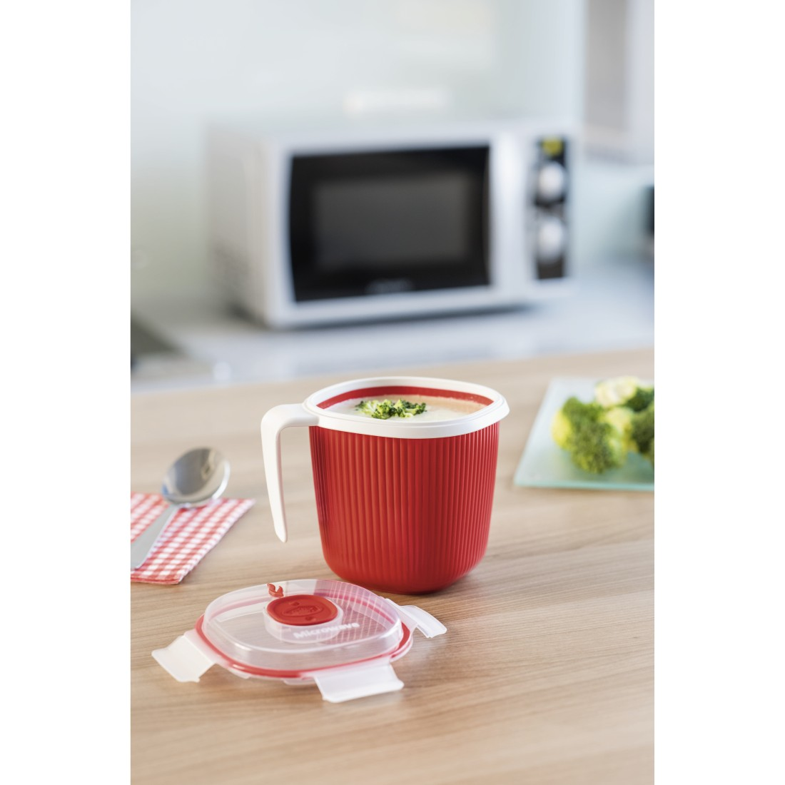 awx High-Res Appliance - Xavax, Tasse pour four à micro-ondes, 0,7 l, rouge