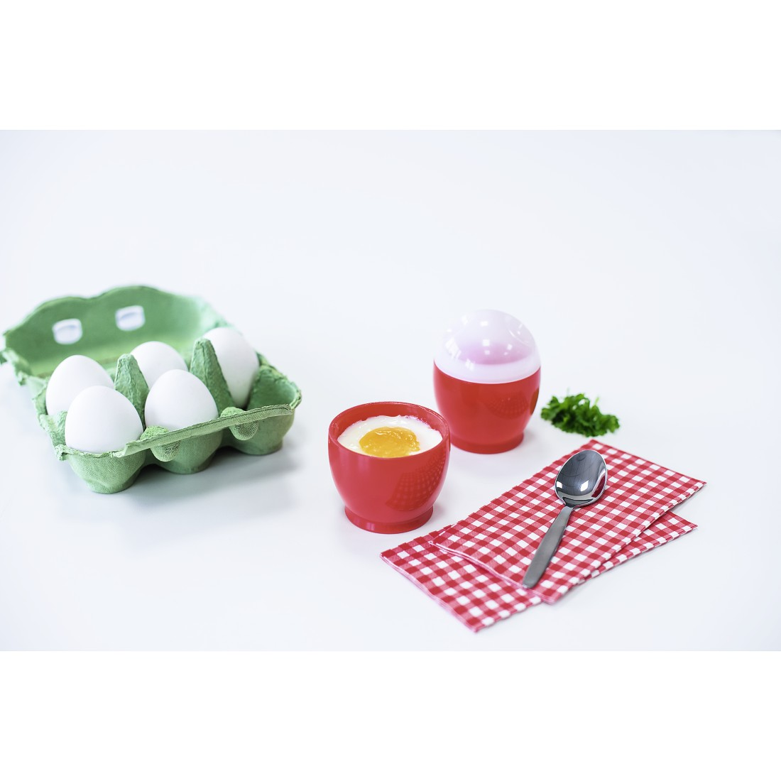 awx High-Res Appliance - Xavax, Set of 2 Microwave Egg Cookers, Polypropylene, 6 x 8 cm