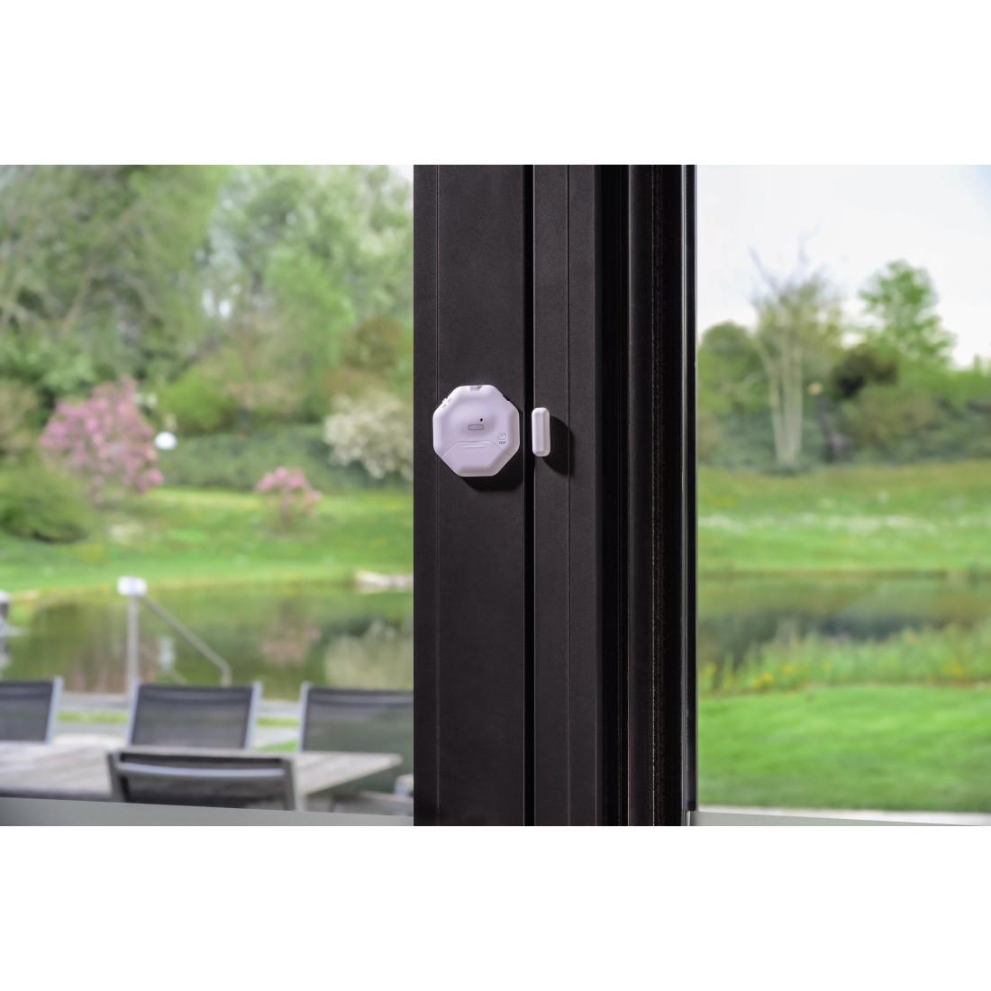 00111985 xavax fenster t r alarm sensor flach. Black Bedroom Furniture Sets. Home Design Ideas
