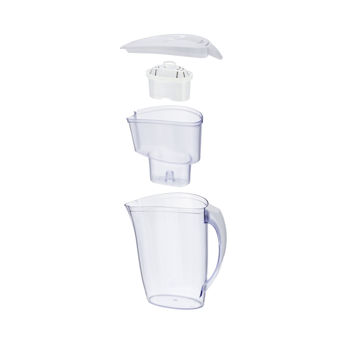 dex High-Res Detail - Xavax, Water Filter Jug with 2 Filter Cartridges, 2.4 l, white