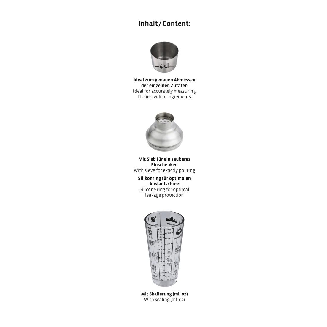 00111550 Xavax Cocktail Shaker Made Of Glass 400 Ml Xavax Eu